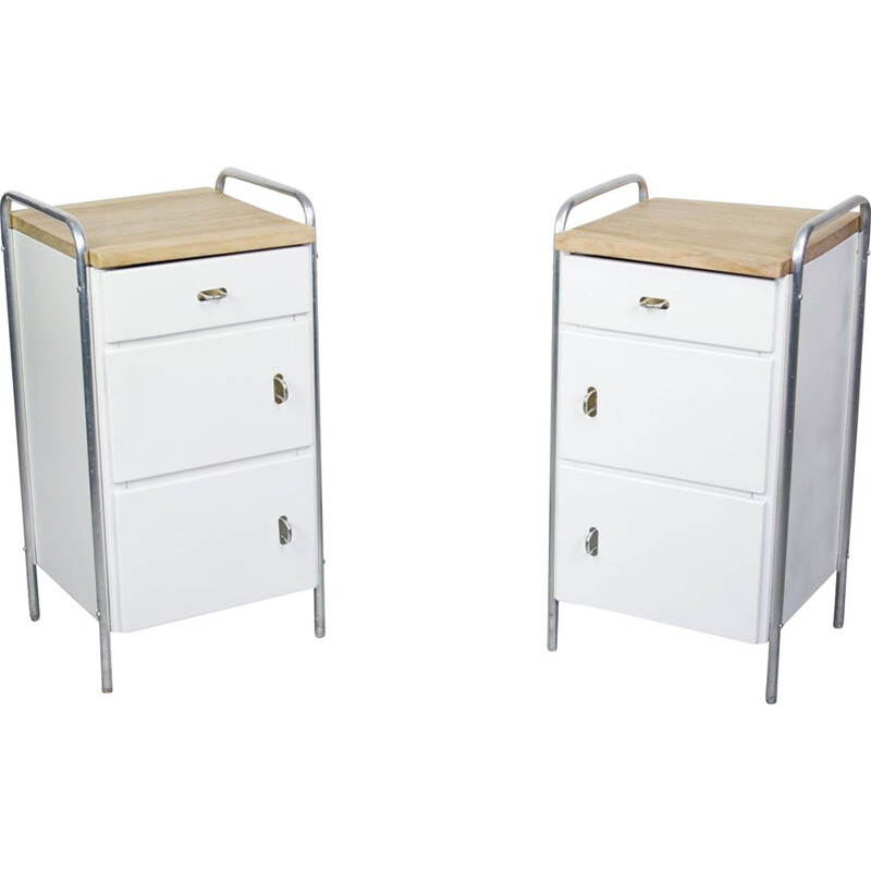 Pair of mid-century industrial cabinets