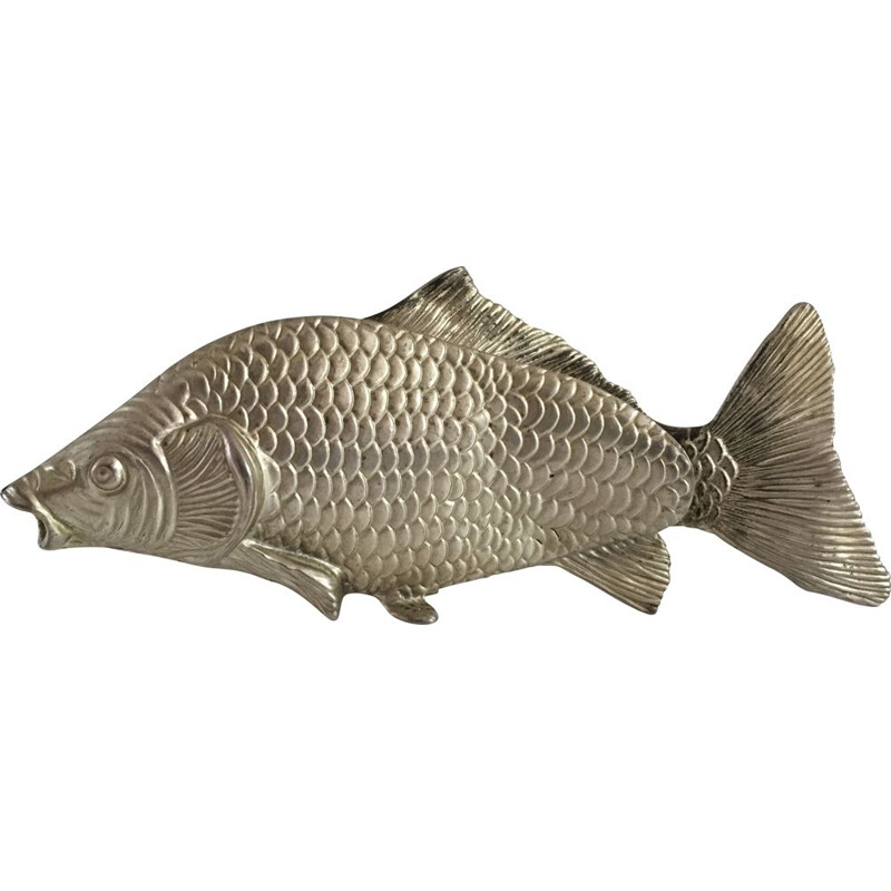 Vintage Fish of Decoration in silver plated steel