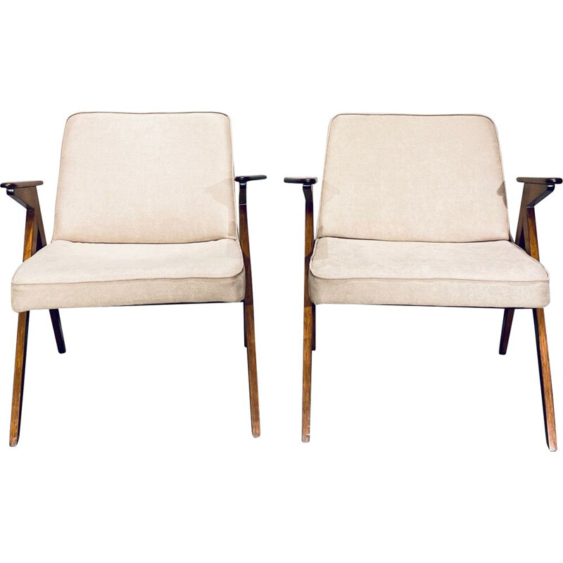 Pair of Vintage Sandy Bunny Armchair by  Jozef Chierowski 1970s