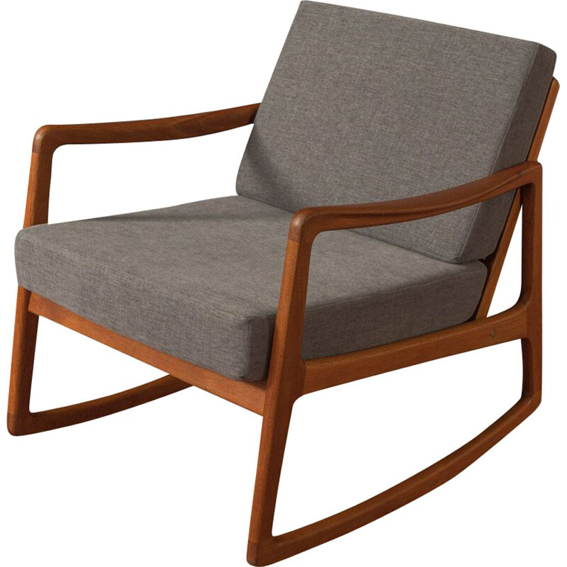 Vintage Rocking Chair,Ole Wanscher 1960s