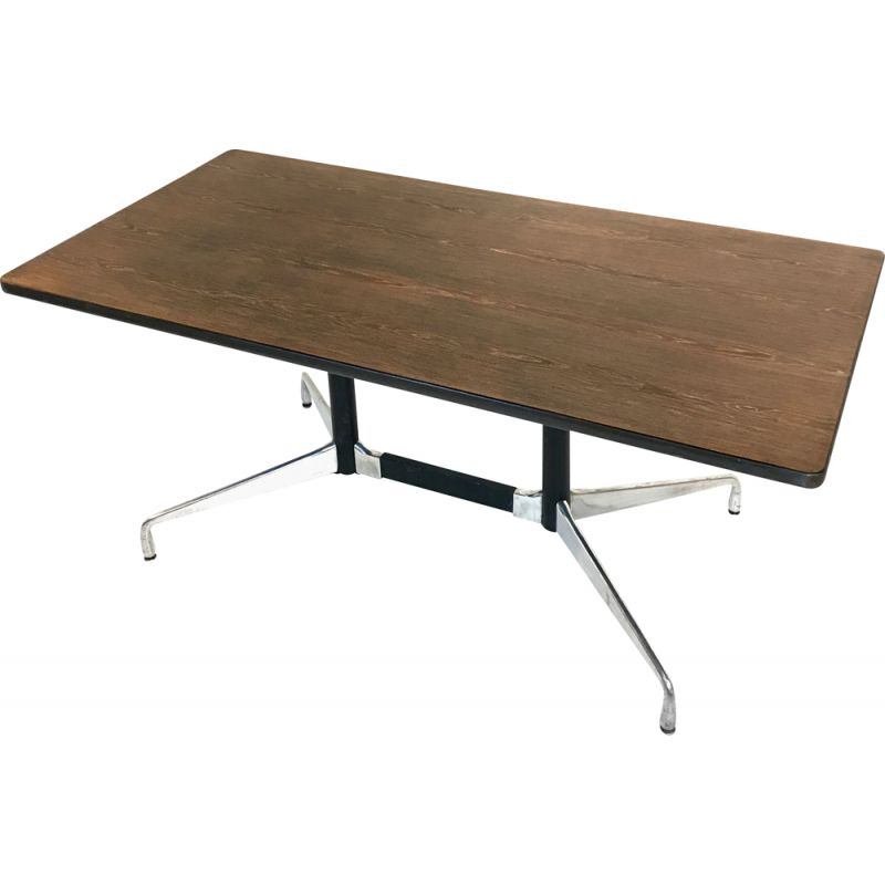 Vintage table by Charles & Ray Eames for Herman Miller in wood, USA 1970