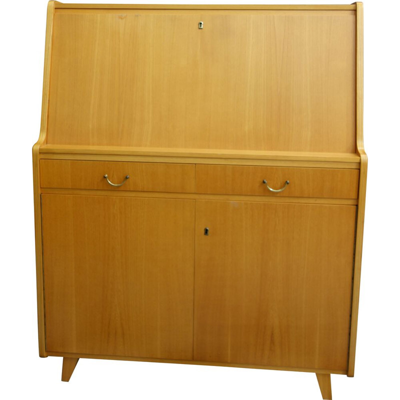 Vintage secretary in Blond wood by Tepe 1960