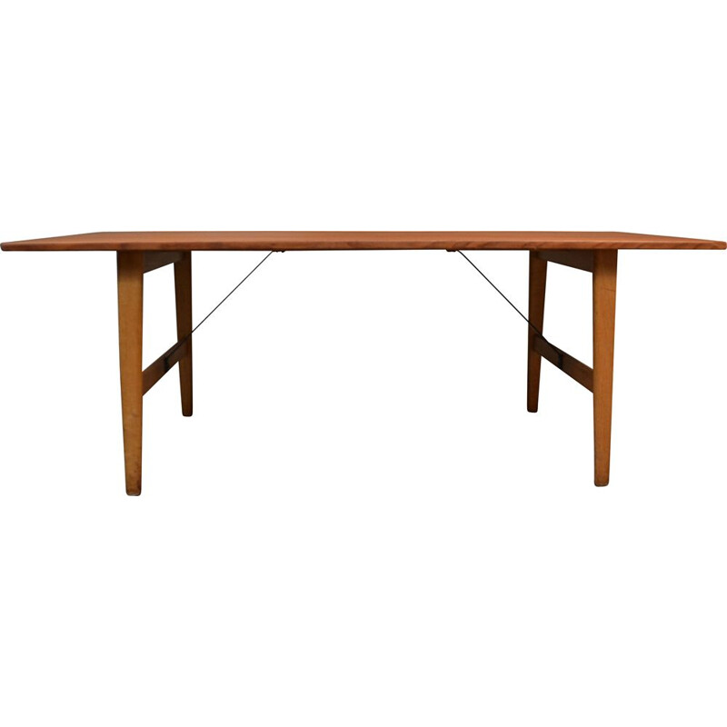 Vintage teak and oak table, Børge Mogensen Denmark