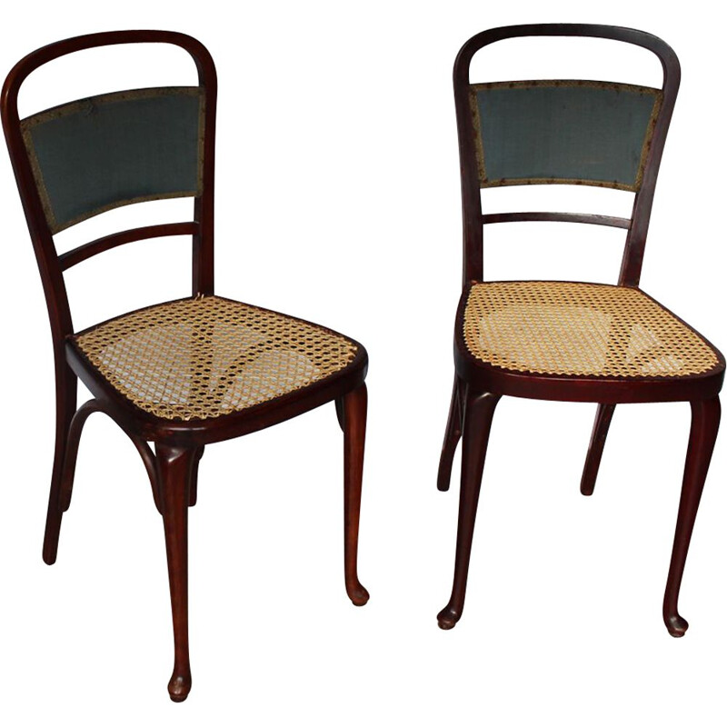 Pair of vintage rattan chairs, Thonet 1920