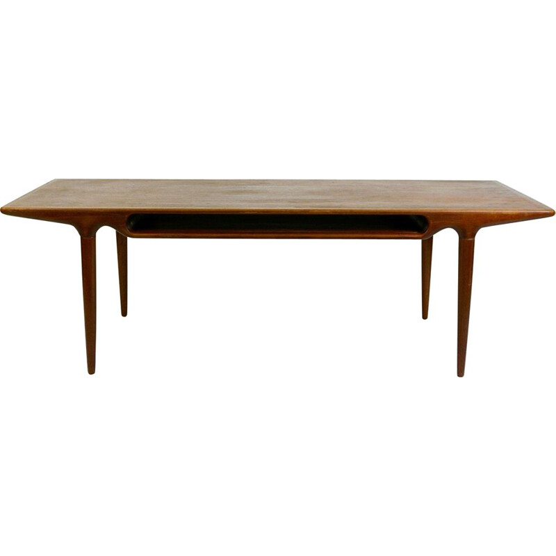 Vintage teak coffee table by Johannes Andersen, Dane