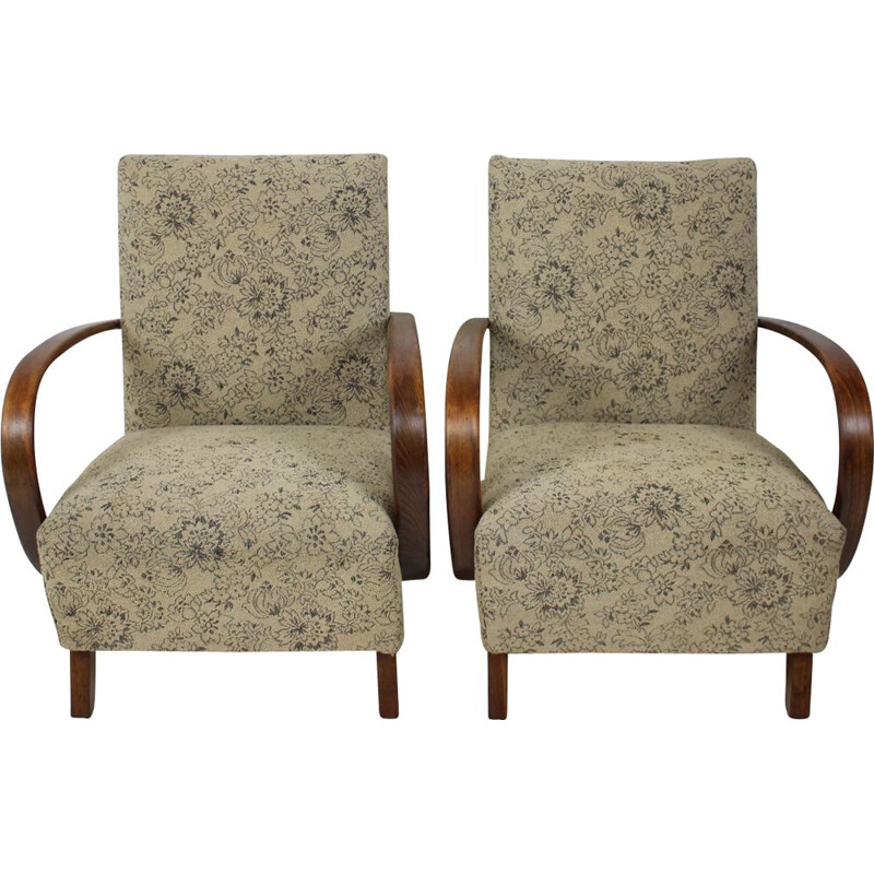 Pair of vintage armchairs by Jindřich Halabala, Czechoslovakia 1950