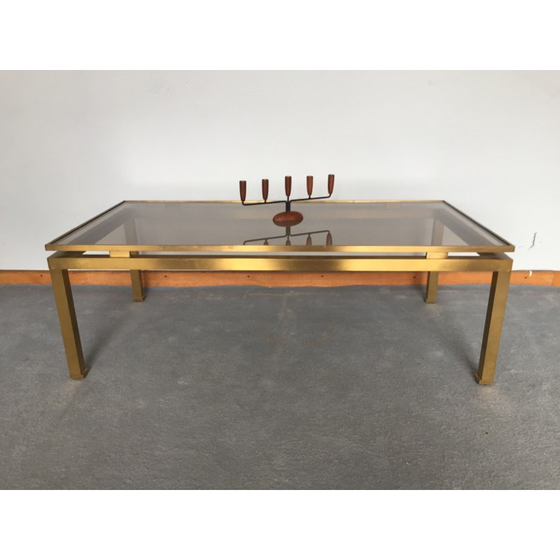 Delicieux Maison Jansen Coffee Table In Brass And Glass, Guy LEFEVRE   1970s   Design  Market