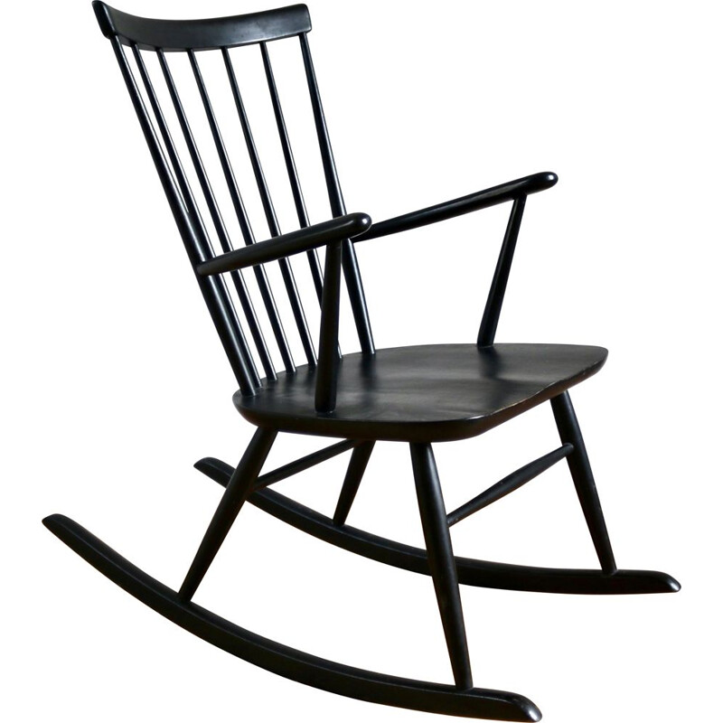 Vintage Scandinavian rocking chair, Roland Reiner for Hagafors, 1960