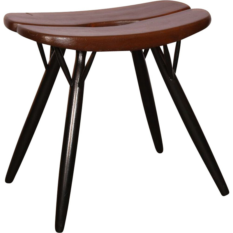 Vintage stool model Pirkka by Ilmari Tapiovaara 1950