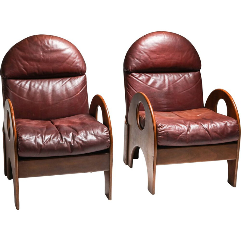 Pair of vintage armchairs by Gae Aulenti 1968