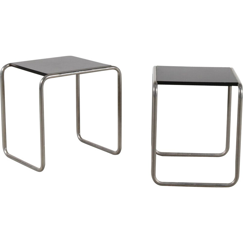 Bauhaus side tables by Marcel Breuer, Germany 1930