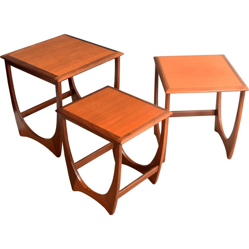 Vintage Fresco teak nesting tables G Plan 1960