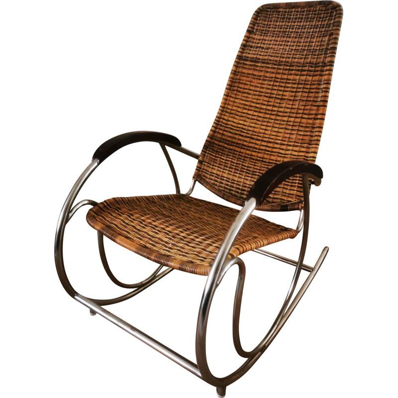Vintage Rocking-chair Bauhaus 1960