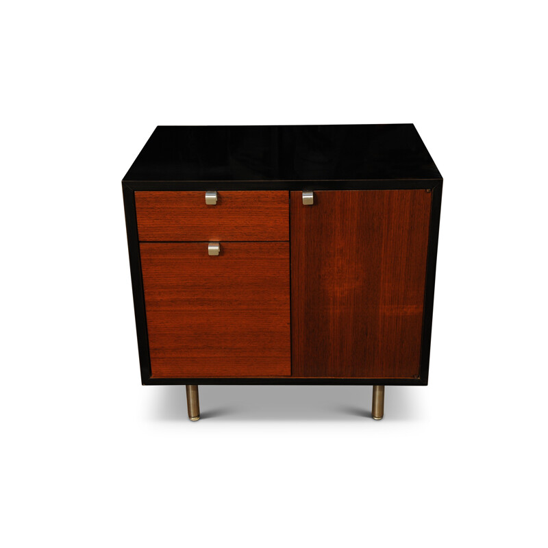 Vintage Walnut Veneered Cabinet of American   USA Herman Miller and by George Nelson1950s