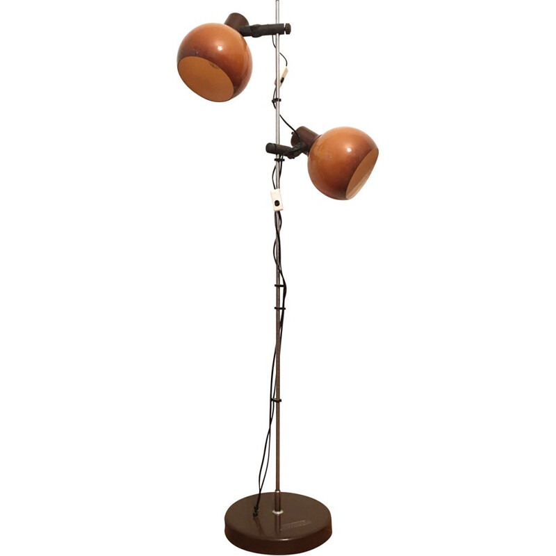 Vintage orange floor lamp 1960