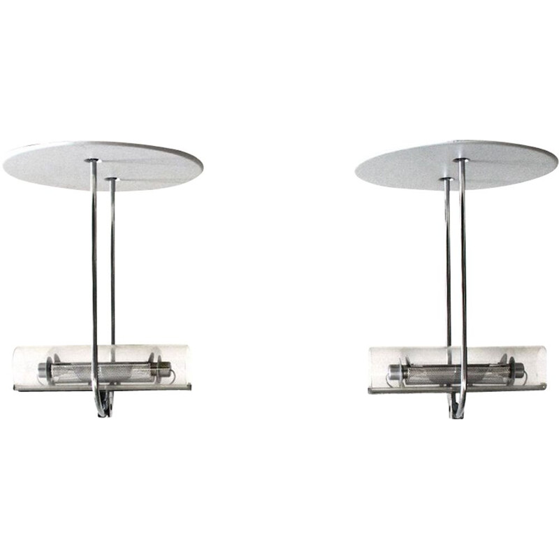 "Pair of ""Acheo"" vintage ceiling lights by Gianfranco Frattini for Artemide, 1980"