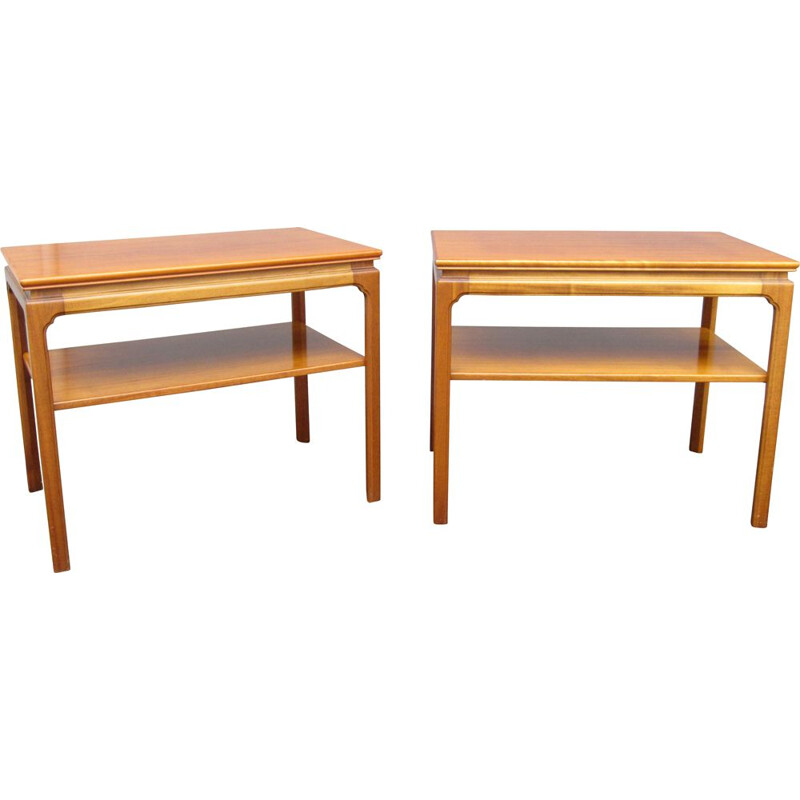 Pair of vintage side tables or bedside tables, Scandinavia