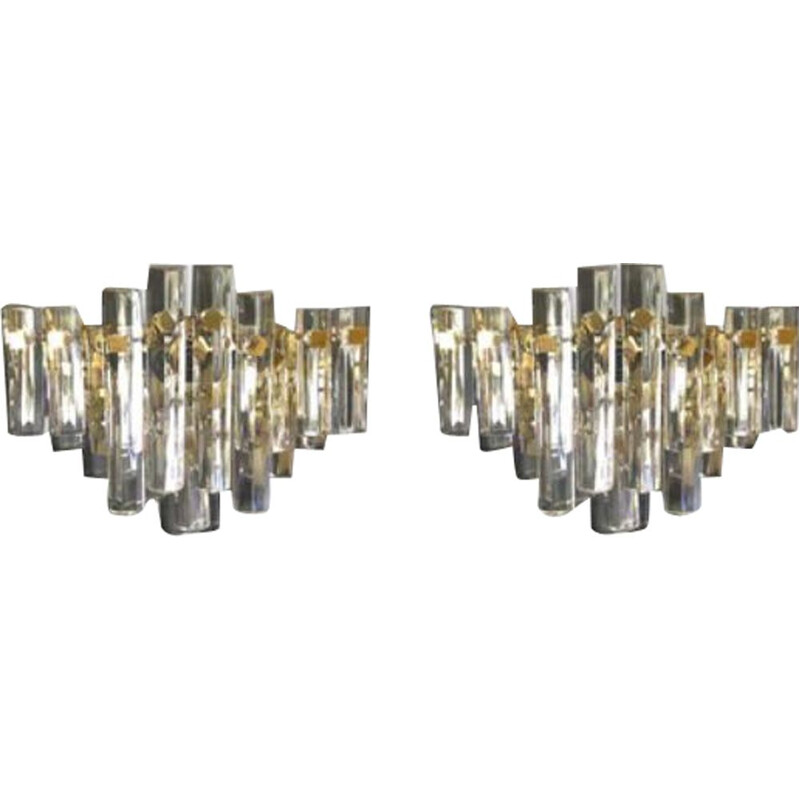 Pair of large vintage wall lamps Venini