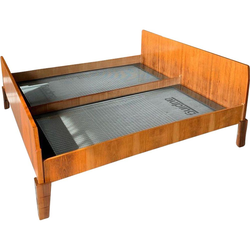 Vintage Teak King Size Bed Danish 1960s