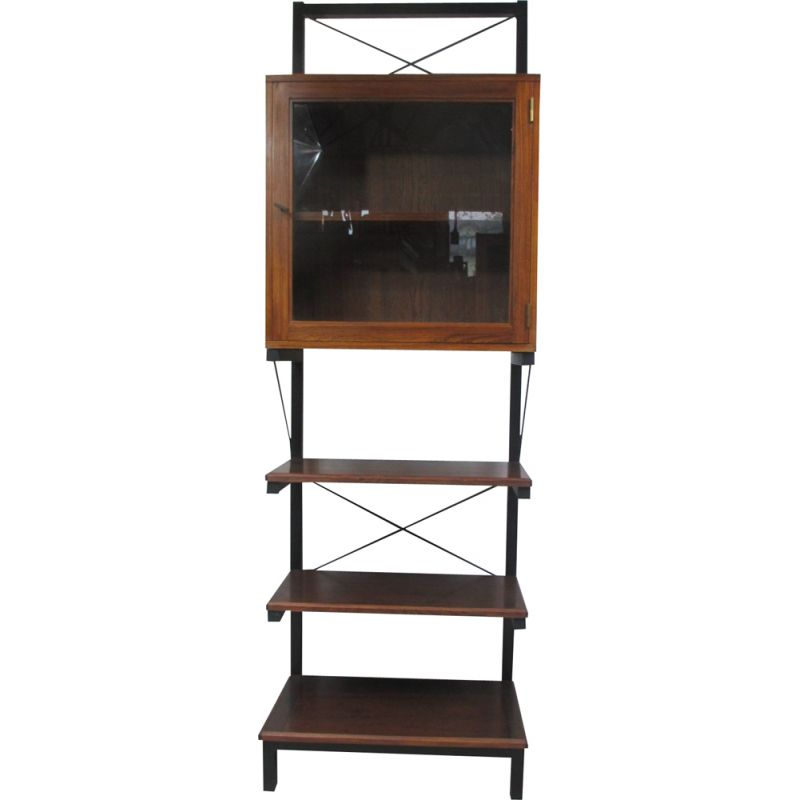 Vintage Bookcase, rosewood and metal 1970s