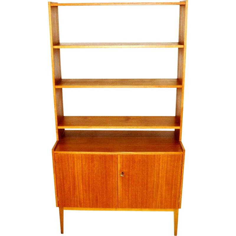 Vintage teak and beech bookcase , Sweden 1960