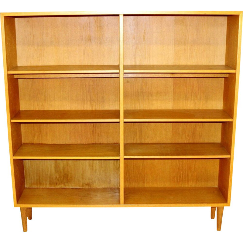 Vintage oak bookcase, Sweden 1960