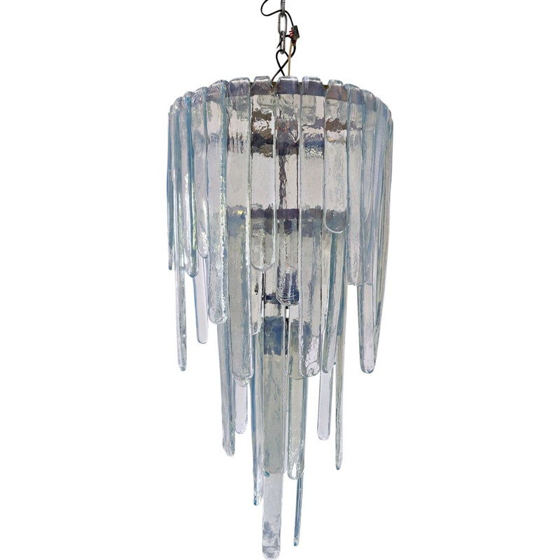 Vintage Opalescent Murano glass chandelier