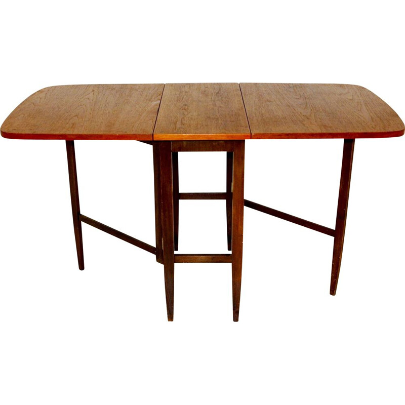 Vintage teak dining table with wings, Sweden, 1960