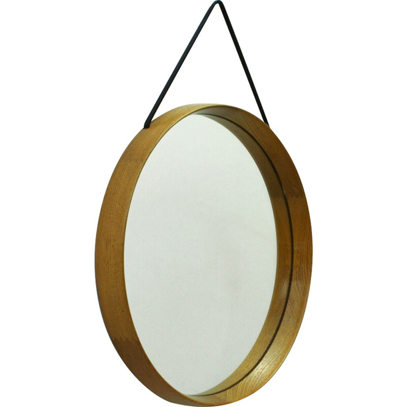 Swedish Luxus solid oakwood mirror, Uno & Osten KRISTIANSSON - 1960s