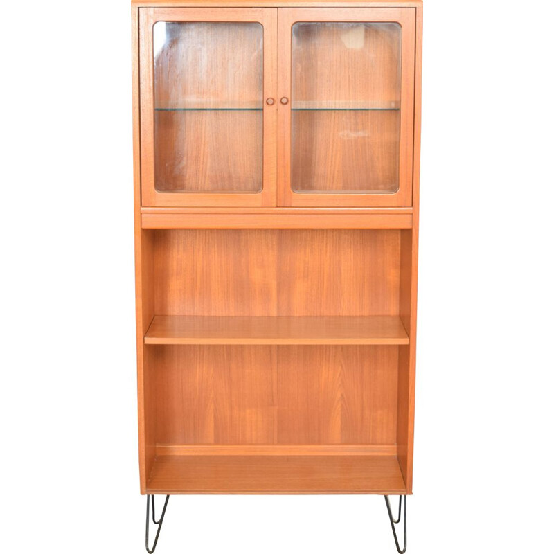 Vintage glazed teak bookcase G Plan 1960