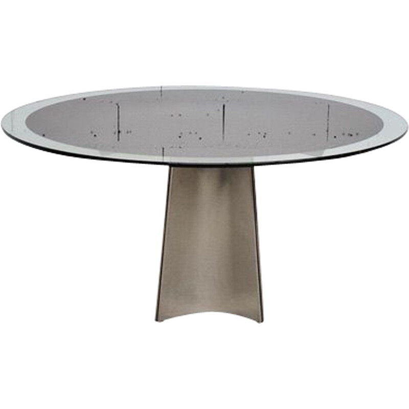 Vintage dining table by Luigi Saccardo Maison Jansen 1970
