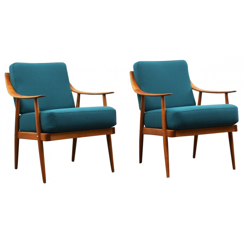Armchair Turquoise Vintage   50s