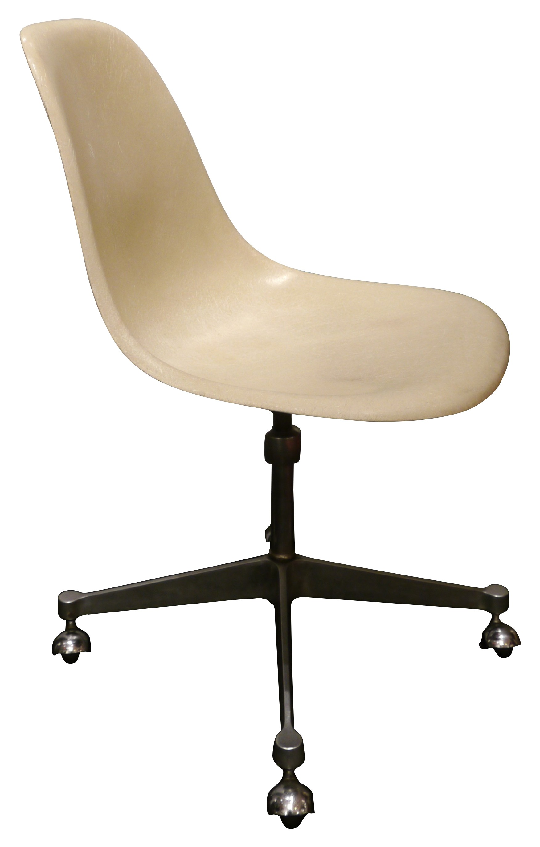 Vintage desk chair with wheels Charles EAMES 70 Design Market