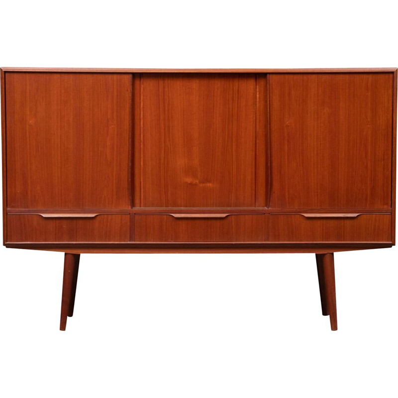 Vintage teak highboard Danish 1960s