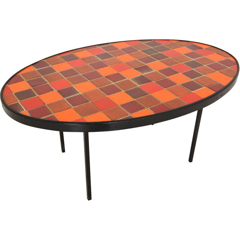 Vintage ceramic coffee table 1960