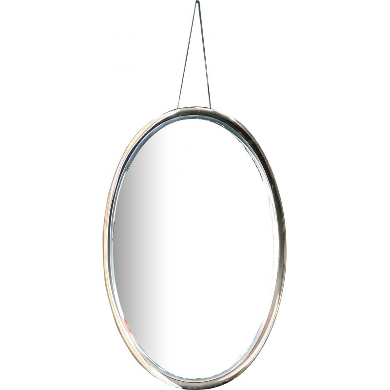 Large  vintage mirror oval by Fontana Arte 1970