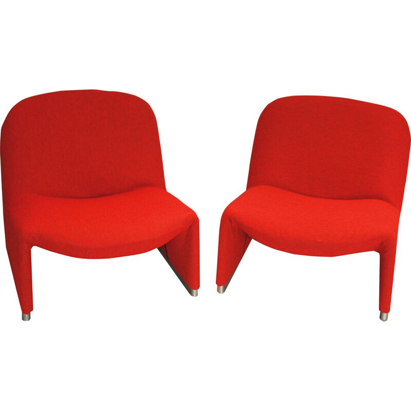 Pair of vintage Alky armchairs by Giancarlo Piretti for Castelli, 1969