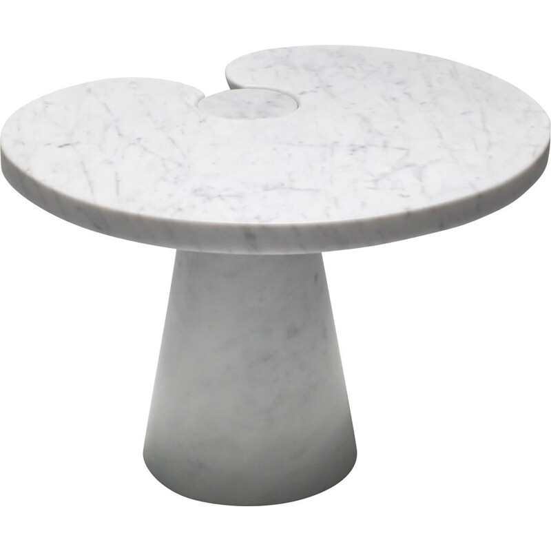 Vintage Marble Side Table 'Eros series' for Skipper Mangiarotti Carrara 1970s