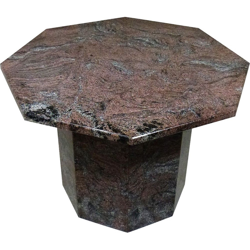 Vintage Granite coffee side table 1970s
