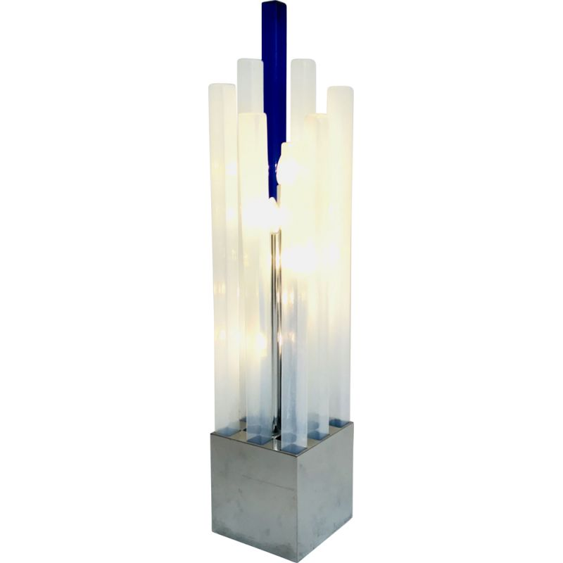 Vintage floor lamp by Angelo Brotto in Murano glass for Esperia, Italy 1970