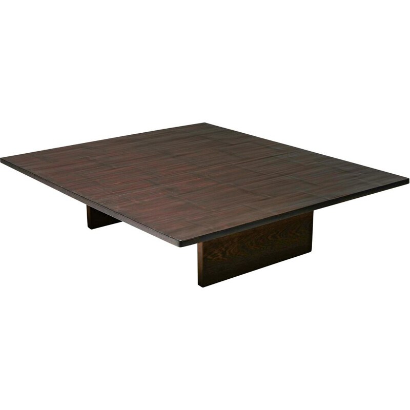 Vintage Coffee Table Axel Vervoordt Wenge and Bamboo 1980s
