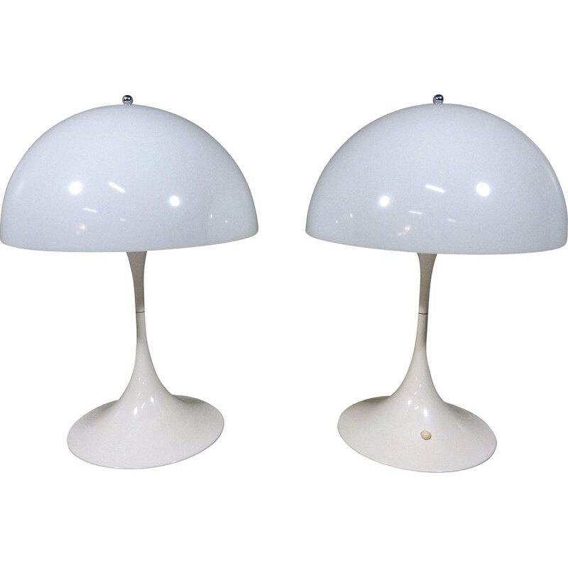 Pair of vintage XL Panthella table lamps by Verner Panton for Louis Poulsen, Denmark