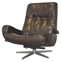 "De Sede ""S 231"" armchair in dark brown leather - 1960s"