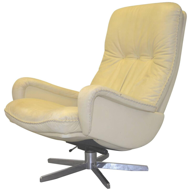 """De Sede """"S 231"""" armchair in white leather - 1960s"""