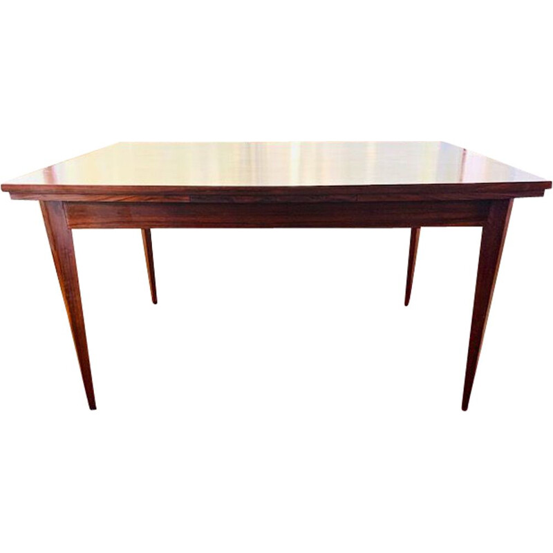 Large vintage rosewood extensible dining table 1960