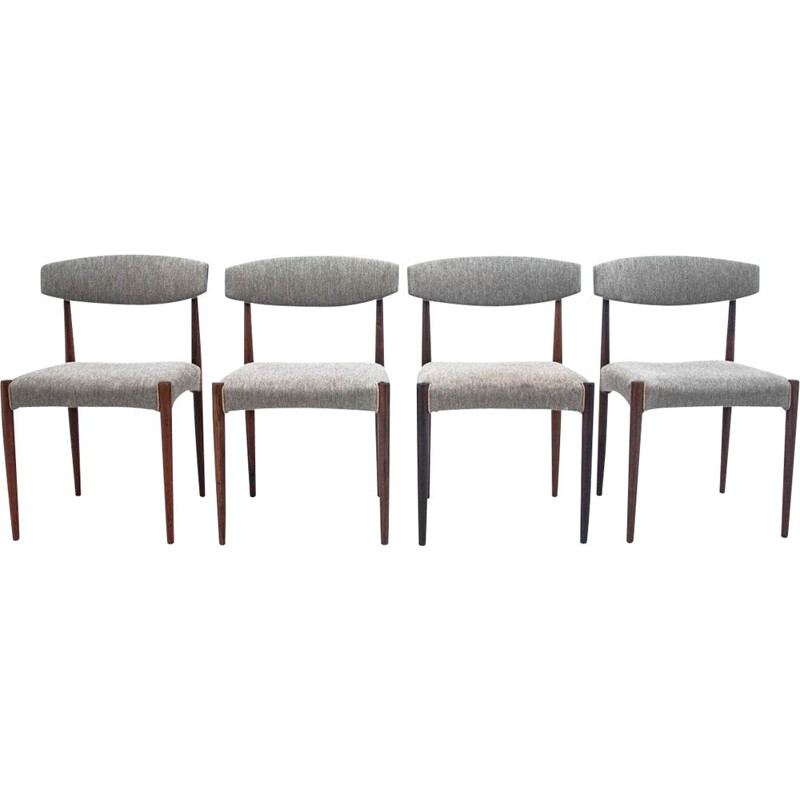 4 vintage chairs rosewood Danish 1960s