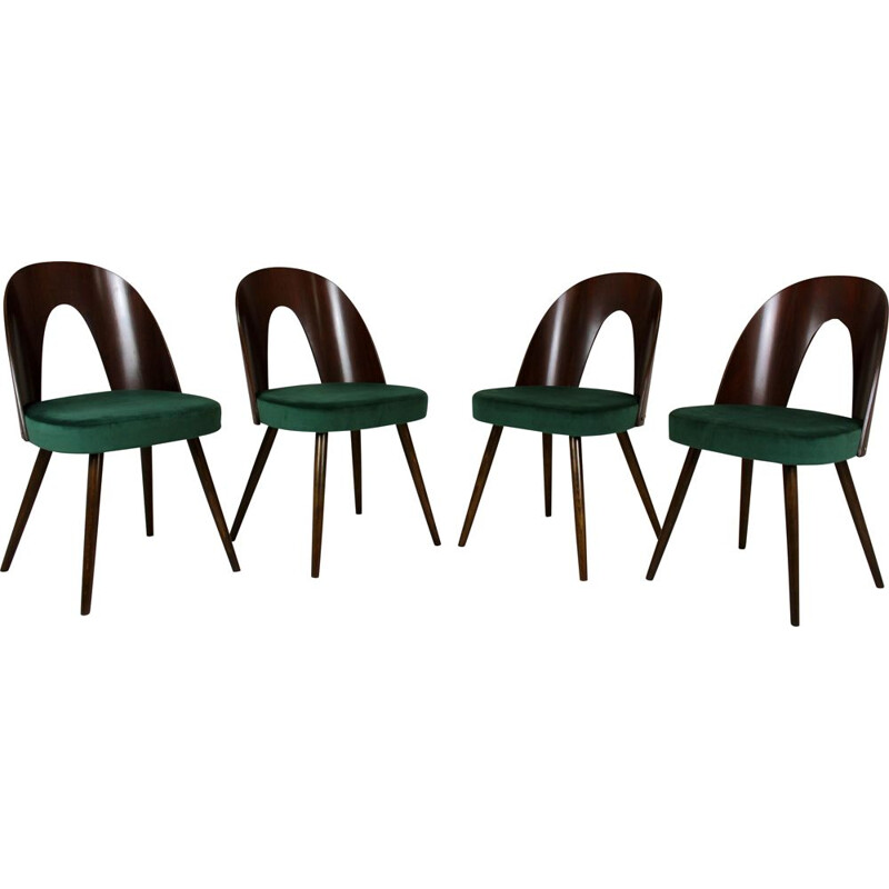 Set of 4 Vintage Dining Chairs by Antonin Suman for Tatra Czechoslovakia 1960s