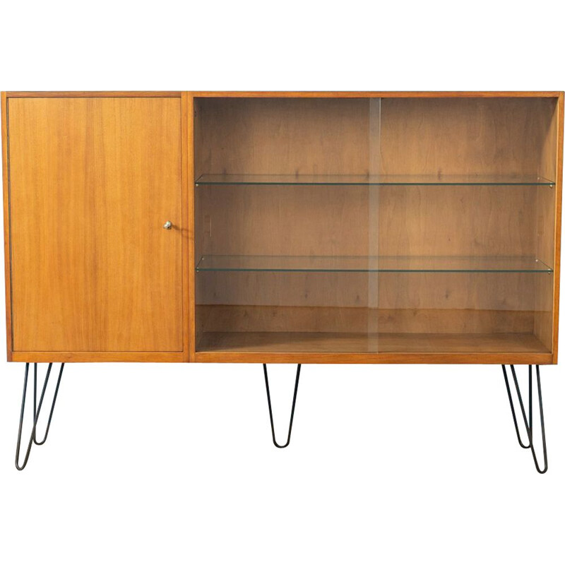 Vintage showcase  in walnut veneer 1950s