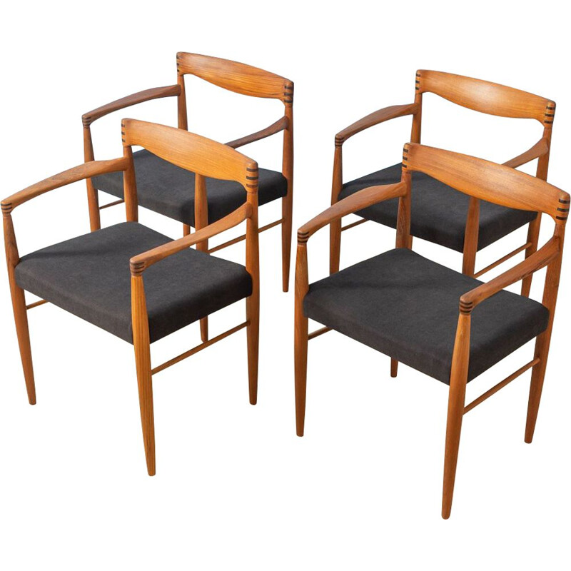 Set of 4 Vintage dining chairs by Bramin 1960s