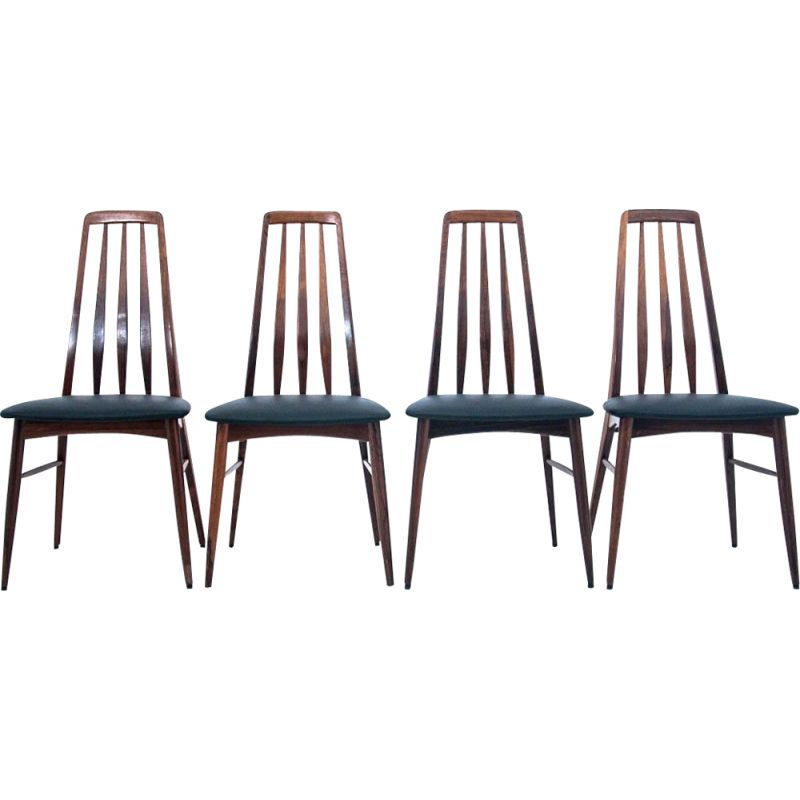 Set of 4 chairs vintage  Niels Koefoed Danish 1960s
